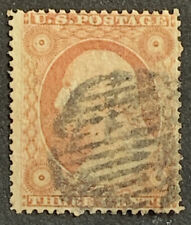 H1/4 US Stamp 26 UNH Fancy Grill Cancel Nice Coll