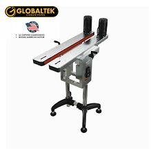 New! Globaltek Bottomless Conveyor Side Belt Transfer for Bottom Coder