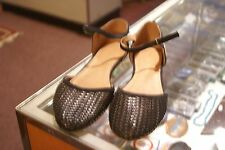 Rampage black synthetic ankle strap flats size 9.5 M