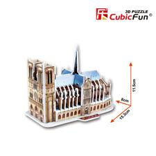 Puzzle 3D CATEDRAL DE NOTRE DAME  CubicFun Rompecabezas 39 Piezas j327