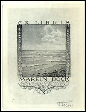 Teubel Fredrich Exlibris C2 Sea Meer Morze 1781