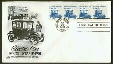 #1906 17c Electric Car-Strip of 4, Art Craft FDC **ANY 4=FREE SHIPPING**