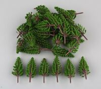 50pcs Model Pine Trees Model Train Trees for HO or OO scale scene 78mm New