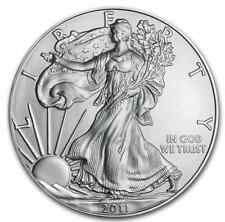 UNCIRCULATED 2011 ONE OZ AMERICAN EAGLE ONE DOLLAR .999 FINE SILVER COIN GEM BU
