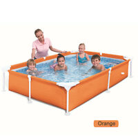PVC Paddling Pool Family Garden Swimming Pool Above Ground Rectangular 365L