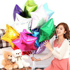 "10pcs 10"" Five Star Shape Wedding Birthday Party Helium Foil Balloons Decoration"