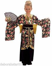 Geisha Costume Japanese Oriental Girls Kimono Fancy Dress Costume Small 5-7 yrs