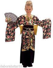 Geisha Costume Japanese Oriental Girls Kimono Fancy Dress Costume Small 5-7 yrs