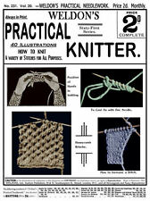 Weldon's 2D #231 c.1904 Instruction for Essential Knitting Techniques & Stitches