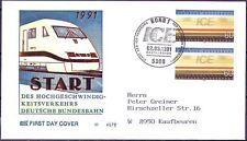 BRD 1991: ICE! FDC der Nr. 1530 mit Bonner Ersttagssonderstempel! Gelaufen! 1707