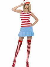 Where's Wenda? Cutie Costume, Where's Wally Licensed Fancy Dress, UK Size 4-6