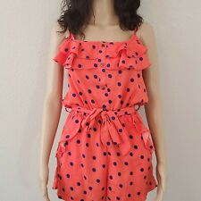 Orange and Blue Polkadot Romper by Fashion Web size Small
