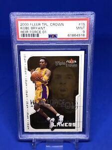 2000-01 Fleer Triple Crown Kobe Bryant Heir Force 01 PSA 9 Insert SP Lakers