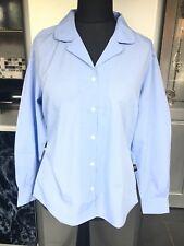 Alexandra Workwear Ladies Long Sleeved Pale Blue Work Shirt Blouse UK14