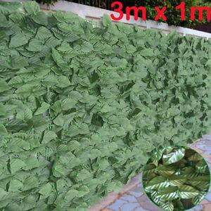 Artificial Leaf Hedge Screening Garden Expanding Trellis Privacy Screen 1m x 3m