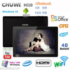 CHUWI Hi10 Win10 & Android5.1 4GB/64GB Intel Z8350 Tablet PC HDMI 2+2MP 2XKamera
