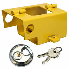 UNIVERSAL HEAVY DUTY COUPLING CARAVAN TRAILER SECURITY HITCH LOCK WITH PADLOCK