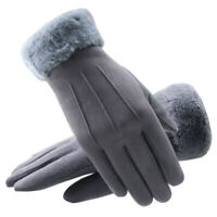Touch Screen Gloves Women Winter Warm Full Finger Windproof Suede-lined Gloves