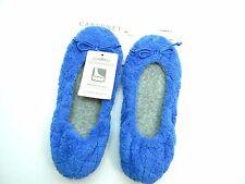 CABERNET SLIPPERS BLUE HD MEMORY FOAM MEDIUM 7-8 WOMEN SHOES