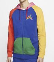 Medium M Nike Jordan Rivals Full Zip Hoodie CV7402-495 Mens Size $80