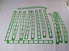 K Nex Bright Fluorescent Green 16 inch Rails 13 pieces