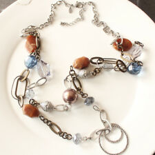 "Long Gift Vintage Women Party Jewelry 36"" New Chicos Beads Dual Strands Necklace"