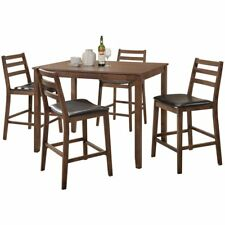 ACME Gervais 5-piece Counter Height Set in Walnut Finish 71830