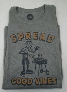 Men's Life is Good T Shirt Grill  Large