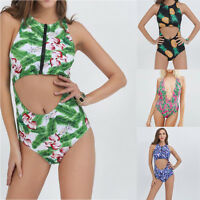 Sexy Women Summer Piece Of Swimsuit Print Bikini Swimwear Beachwear Bathing Suit