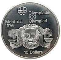 1974 Canada RCM 10 Dollar Silver 1976 Montreal Olympic Games Silver Coin KM#93