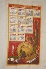 Vtg 1968 Calendar Kitchen Tea Towel Linen Boyd East or West Home Is Best!!!
