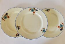 Distressed Vintage Midwinter Porcelon Dinner Plates, 1940s Wartime Pottery