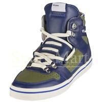 Mens Adidas Originals Hardland Hi Blue/Green Leather Trainers Shoes Size