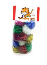 Jumbo Sparkle Ball Tuff Kitty Puff® Cat Toy - 12 Pak