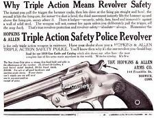 1909 Vintage ad Hopkins & Allen Triple Action Safety Police Revolver