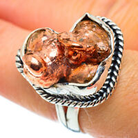 Blister Copper 925 Sterling Silver Ring Size 7.75 Ana Co Jewelry R43107F