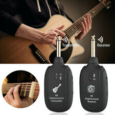 Guitar WIRELESS System Transmitter Receiver rechargeable USA BASS UHF 50 MET NEW