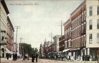 Janesville WI Main St. c1910 Postcard