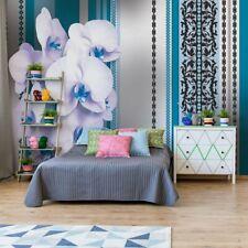 Tapete Fototapete Vlies Luxus Blumenmuster Orchideen Teal