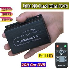 2CH Mini Vehicle Car Video Recorder Car/Bus Mobile Car Video DVR Max Up 128GB