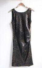 Zara Kleid S schwarz gold Paillettenkleid Party Abendkleitd Glitzer Neu