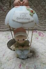 Precious Moments Ornament Babys First 1st Christmas 2002 Boy Balloon W/ Box