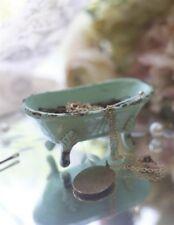 Victorian Trading Co Green Clawfoot Tub Trinket Dish