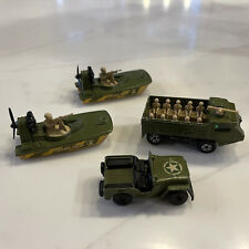 MATCHBOX LESNEY SUPERFAST Army Lot Swamp Rat Personnel Jeep