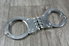 Metal Police Heavy Duty Hinged Handcuffs Steel 1643 No Key Included
