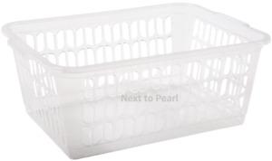 Wham Clear Set of 3 Medium Plastic Handy Fruit Vegetable Basket Kitchen Office