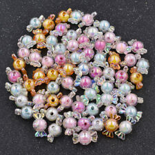 63pcs Sweet Candy Shape Bicolor Acrylic Beads DIY Jewelry Making Color Random
