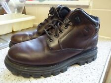 Mens Caterpillar boots size 8/42 dark brown leather