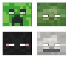 Minecraft Birthday Party Carboard Masks 8 Pack