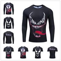 Men's T-shirt Marvel Venom Compression Villain Comic Adult Graphic T Shirts Tee